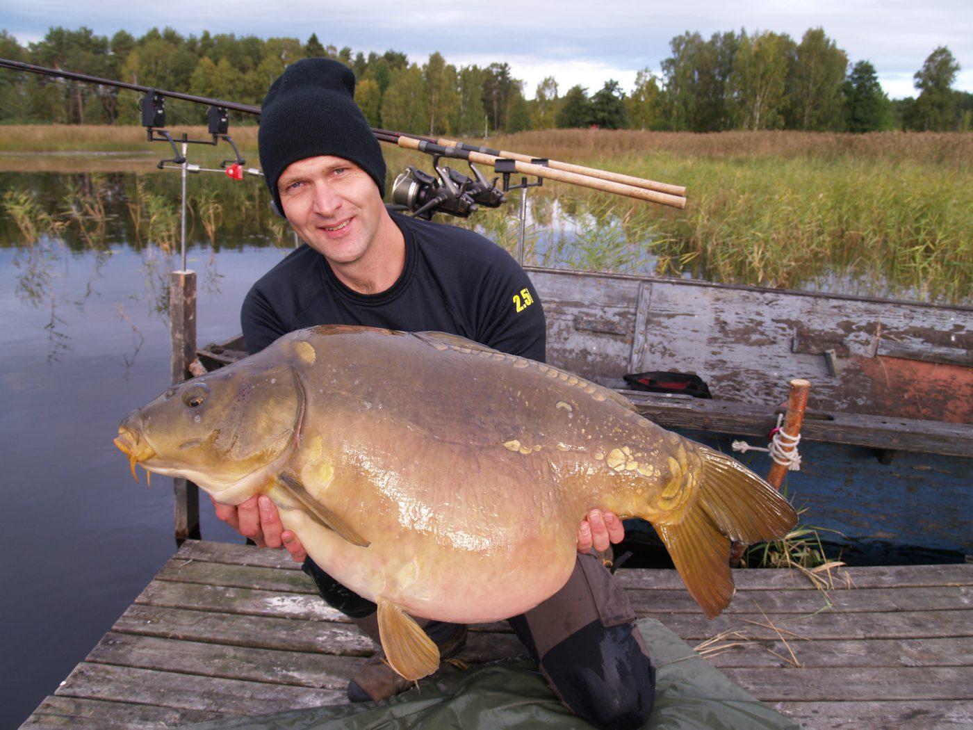 David Lundqvist med karp