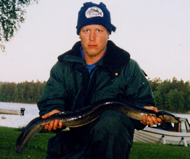 David med en ål