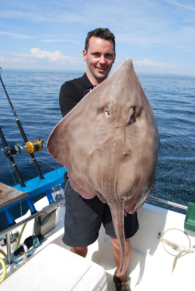 Bara en av alla Leifs fantastiska fångster ute till havs! Vitrocka på 11270 gram.