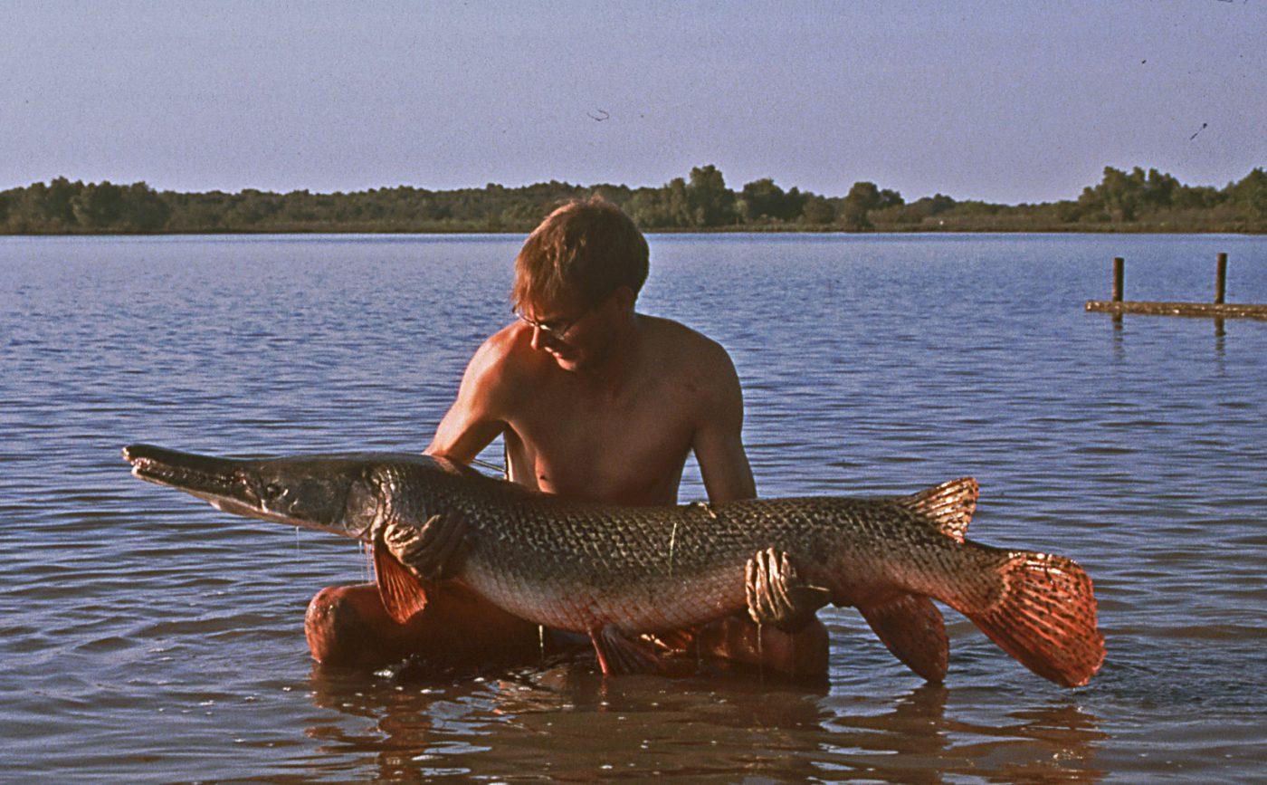 PO Johannesson med aligator gar