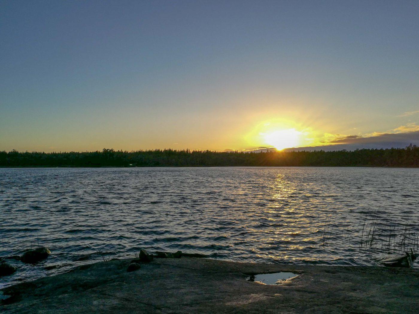 Solnedgång över Karsgöl