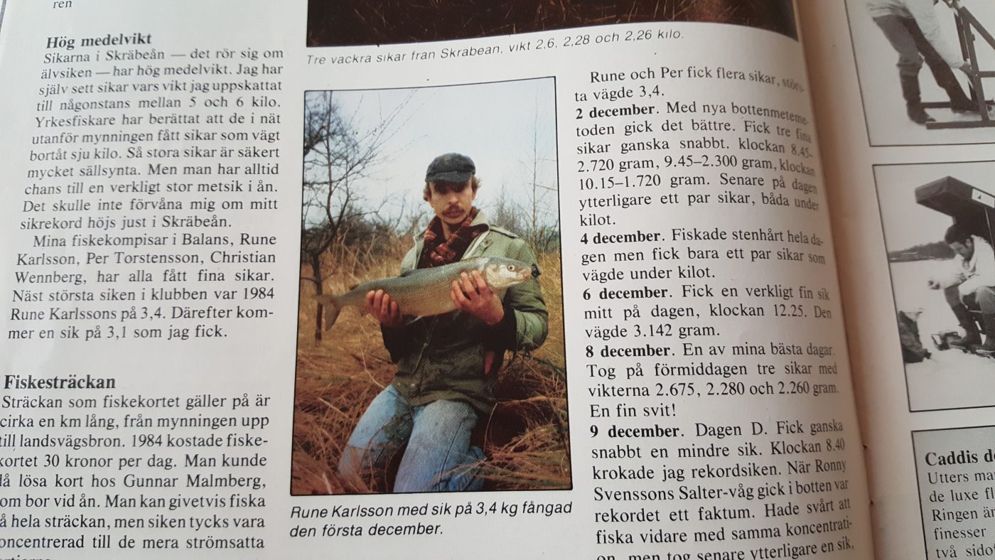 Specimenfisket i Sverige 1985