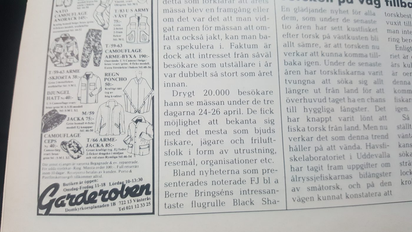 Specimenfisket i Sverige 1987