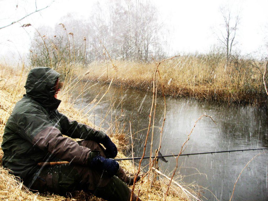 fiske i dåligt väder