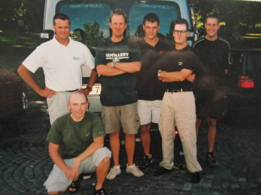 VM laget 2003 på väg till Slovakien.