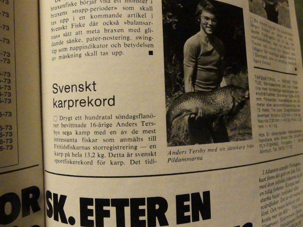 Svenskt Karprekord - Svenskt Fiske