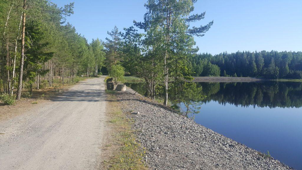 Vägen vid dammen