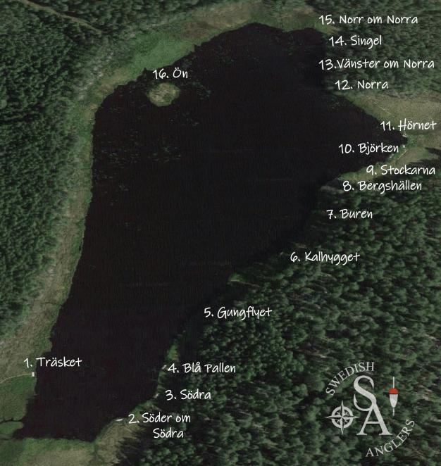 Karta över Ursjön
