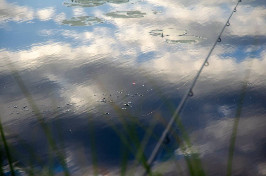 bubbel på fiskeplatsen